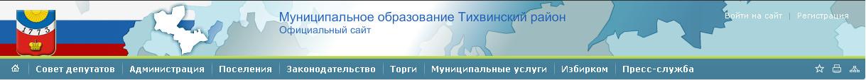 Муниципальное образование тихвинского района